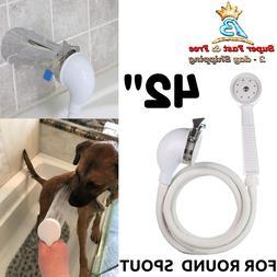 Handheld Pet Shower Sprayer And Hose For Bath Tub Faucet Dog