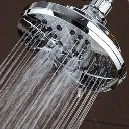 AquaDance High Pressure Rainfall Shower Head 6 Inch 6-Settin