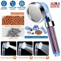 high turbo pressure shower head filtered ionic