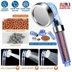 High Turbo Pressure Shower Head Filtered Ionic Stone Stream