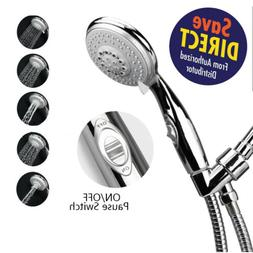 HotelSpa AquaCare Luxury Shower Head 6-setting w/Pause Switc