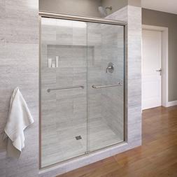 Basco Infinity Frameless Sliding Shower Door, Fits 56-58.5 i