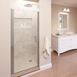 Basco Infinity 27- 28 in Width, Semi-Frameless Shower Door,
