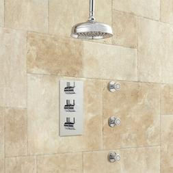 "Isola Shower System with 10"" Rainfall Shower 3 Body Sprays i"