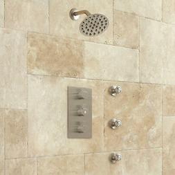 "Isola Thermostatic Shower with 10"" Wall Shower and Body Spra"