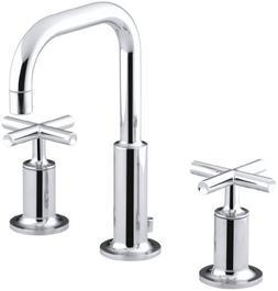 KOHLER K-14406-3-CP Purist Widespread Lavatory Faucet with L