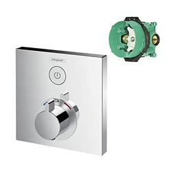 Hansgrohe K15762-01850CR-2 ShowerSelect E Thermostatic Squar