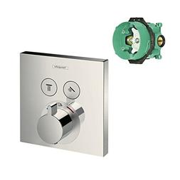 Hansgrohe K15763-01850BN-2 ShowerSelect E Thermostatic Squar