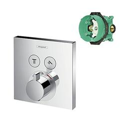 Hansgrohe K15763-01850CR-2 ShowerSelect E Thermostatic Squar