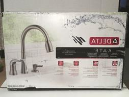 Kate Pull Down Kitchen Faucet with Soap Dispenser - Finish: