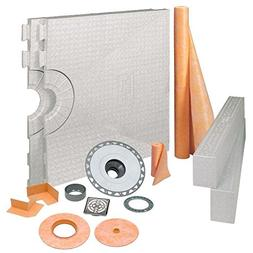 Kerdi-Shower 32 in. x 60 in. PVC Shower Kit with Brushed Nic