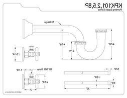 Kingston Brass KPK101P Made to Made Plumbing Supply Combo Ki