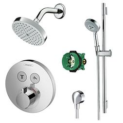 Hansgrohe KSH15743-04342-66PC Complete ShowerSelect Kit, Wal