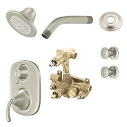 Moen KSPIC-SB-TS283BN Icon Vertical Spa Kit with Shower, Hea