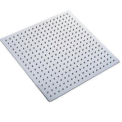 10 inch LED Chrome Square Rain Shower Wall Mount Sprayer
