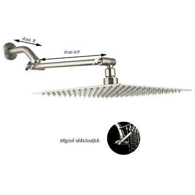10-inch Square Rainfall Shower Head Extension