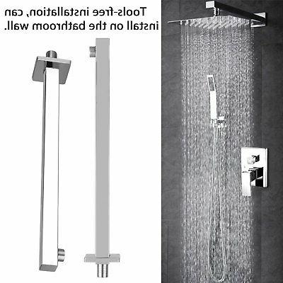 "16"" Ceiling Rain Shower Chrome Wall Extension Arm"