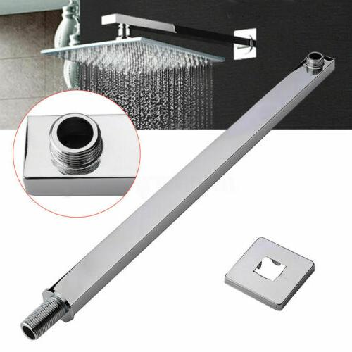 "16"" 40cm Square Ceiling Rain Shower Head Chrome Wall Mounted"