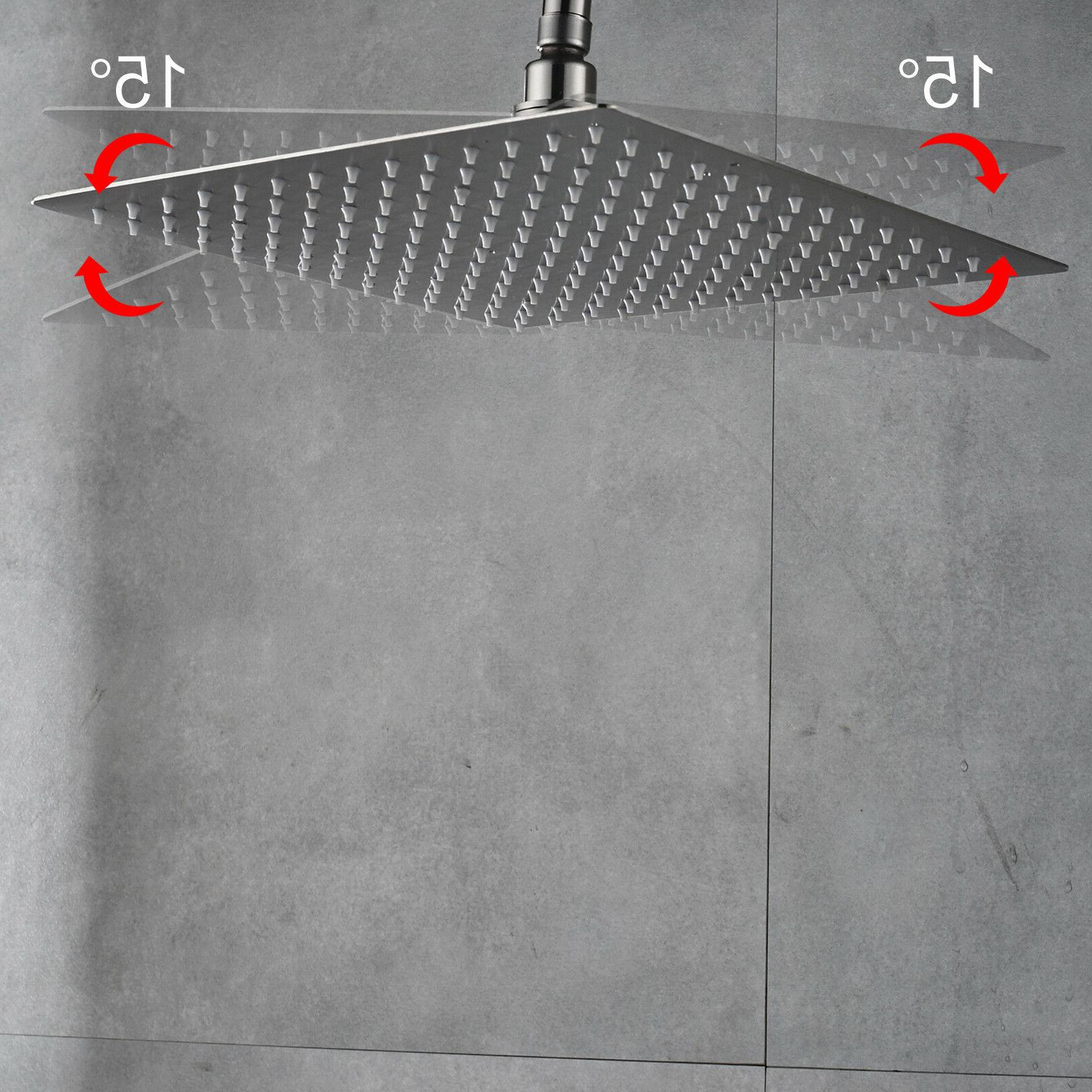 16-Inch Square Shower Head Nickel Top Rotate