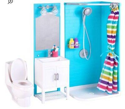 "18"" BATHTUB+SHOWER+Vanity as Boy Lot"