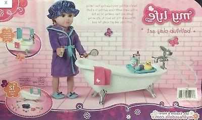 "18"" Claw-Foot BATH TUB for Life as Girl Boy Bathroom Shower"