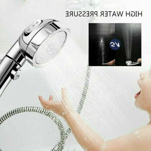 3 High Pressure Showerhead Handheld Pause Shower 3 Mode