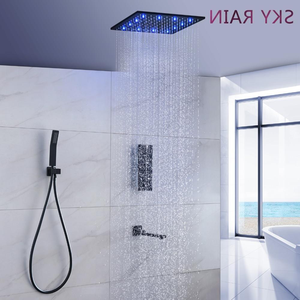 304 Led Light <font><b>Shower</b></font> <font><b>Panel</b></font> Heads Bathroom Rainfall Set <font><b>Shower</b></font>