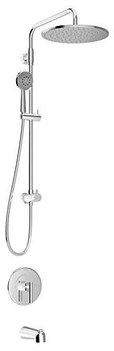 Symmons 3502-EX-402SH1-432W Dia Exposed Shower System, Chrom