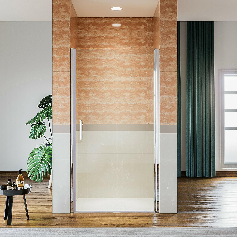 """ELEGANT 30""""W Semi-frameless Sliding Shower Doors 3/16"""" Clear"""