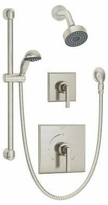 Symmons 3605-H321-V-STN Duro Shower/Hand Shower Unit, Satin
