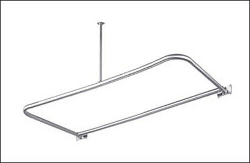 Barclay 48x26 Chrome D Shaped Shower Rod includes Ceiling Su