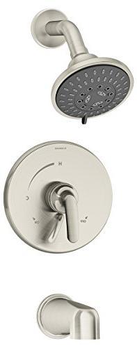 Symmons S-5502-STN Elm Single-Handle 3-Spray Tub and Shower