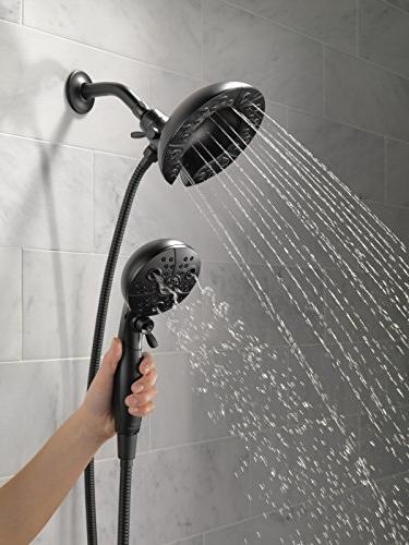 Delta Faucet 5-Spray H2Okinetic In2ition 2-in-1 Hand Held Hose and Matte Black