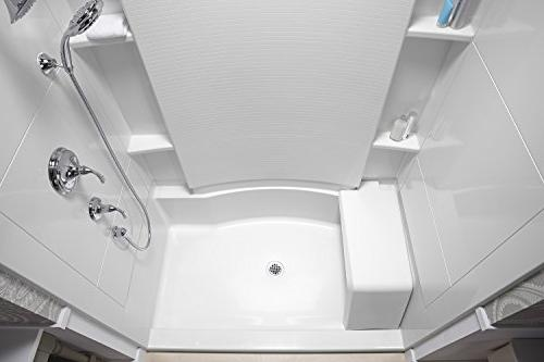 STERLING 72290100-0 36-Inch x 60-Inch x Standard Shower with Seat, White