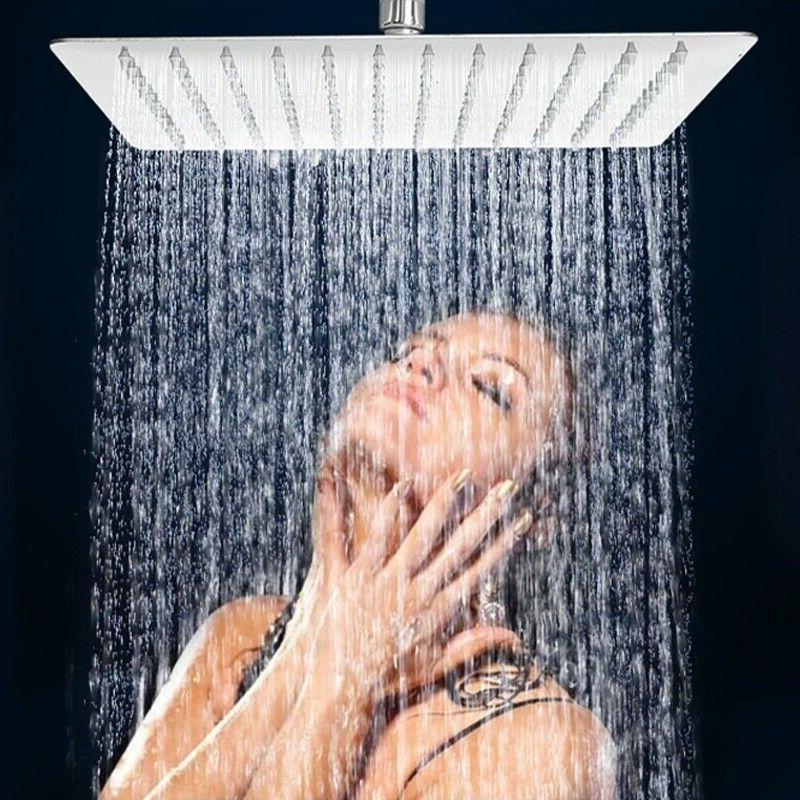 8 inch rain shower head brushed nickel