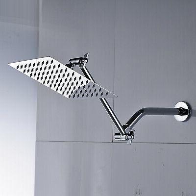 8-inch Steel Rainfall Shower Extension Arm Chrome