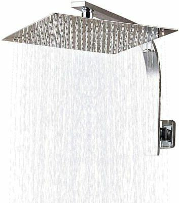 8 inch stainless steel square rainfall shower