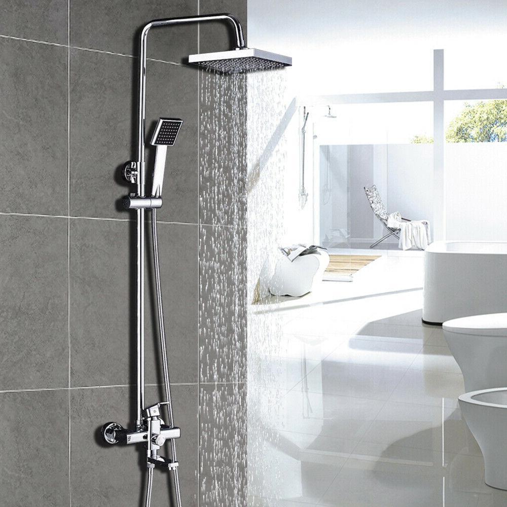 8 rainfall chrome bathroom shower faucet tub