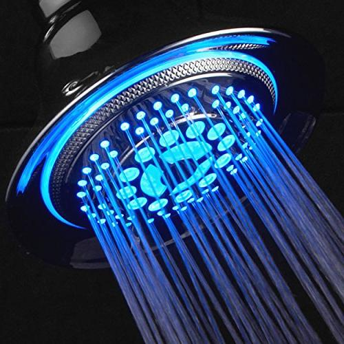 DreamSpa All Temperature Controlled 5-Setting LED Shower-Head Top Brand Manufacturer! of lights automatically according to temperature