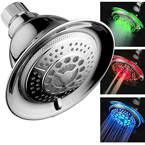 DreamSpa Chrome Temperature 5-Setting Top Brand of LED lights changes automatically temperature