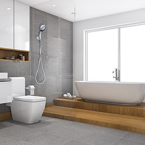 ShowerMaxx Held Shower | Extra Stainless Hose Shower Restrictor | Chrome Finish