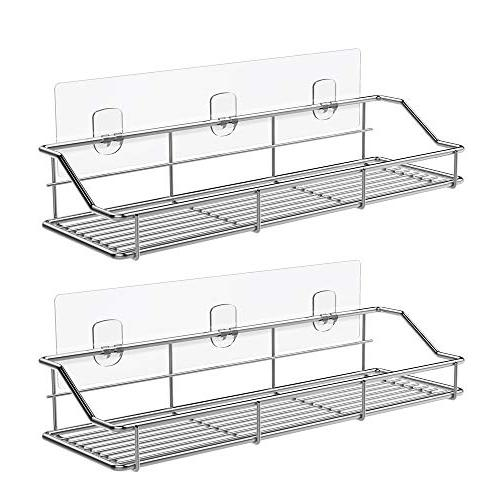 adhesive bathroom shelf shower caddy