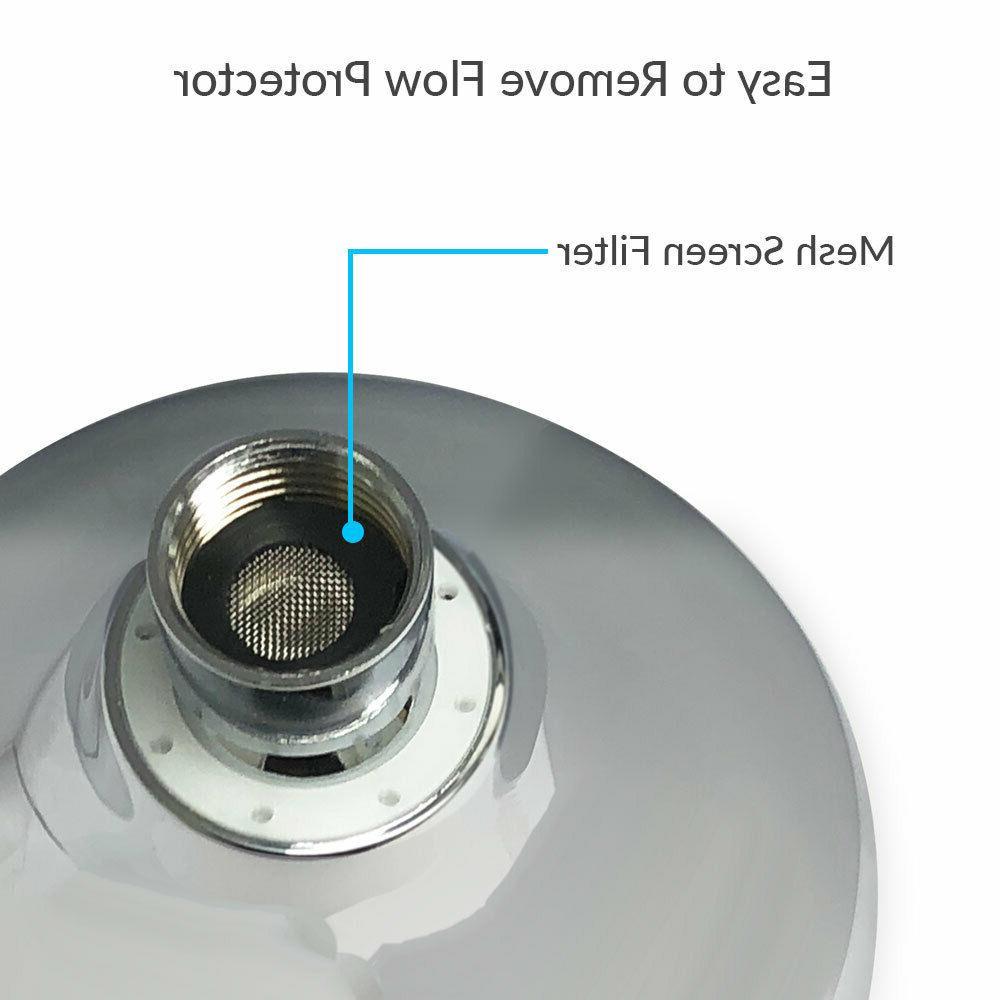Adjustable Luxury Bathroom High Pressure Wall Head, Chrome