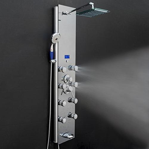 AKDY 52 Tempered Aluminum Shower Massage System,