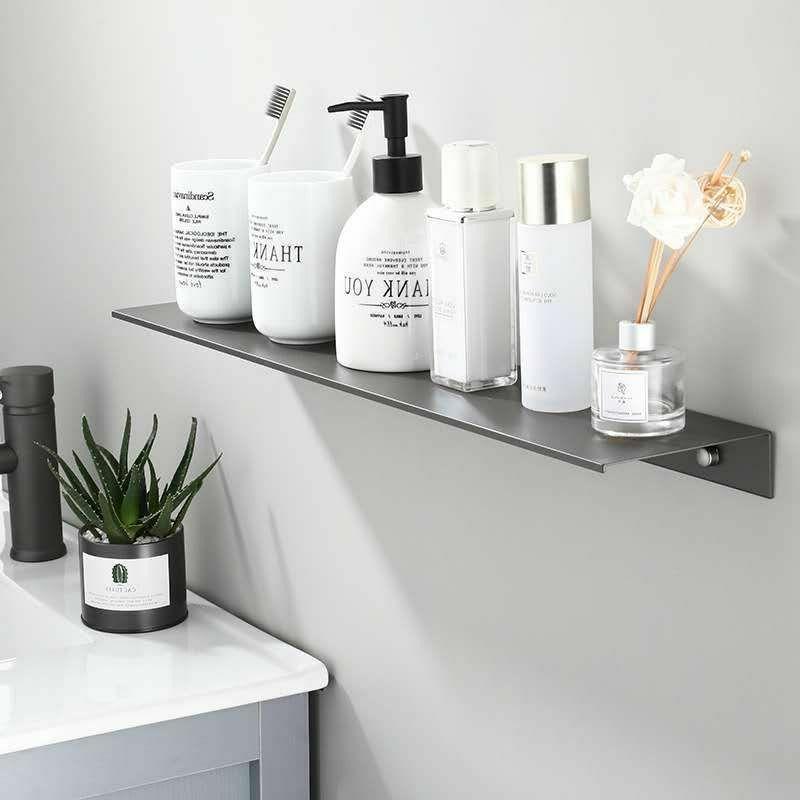Aluminum Bathroom Shelf Space Shower Shelves Mirror Shampoo