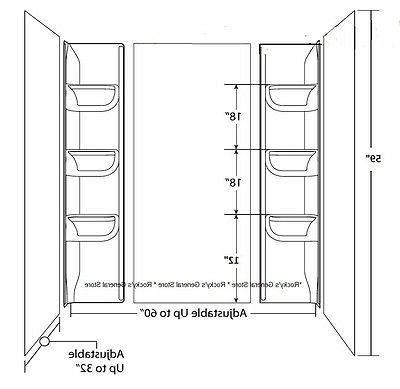 Bath Surround Piece Six Shelves