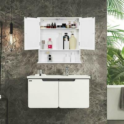 Bathroom Wall Mounted Hanging Storage Cabinet Furniture Mirr
