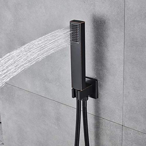 Rozin Bathroom 2-way Mixer Set 8-inch Showerhead Handheld Oil
