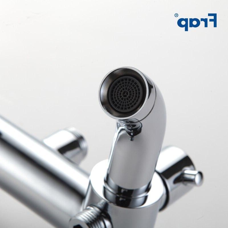 Frap Faucet Rainfall System Bath Mixer With Hand Sprayer <font><b>Panel</b></font> Wall