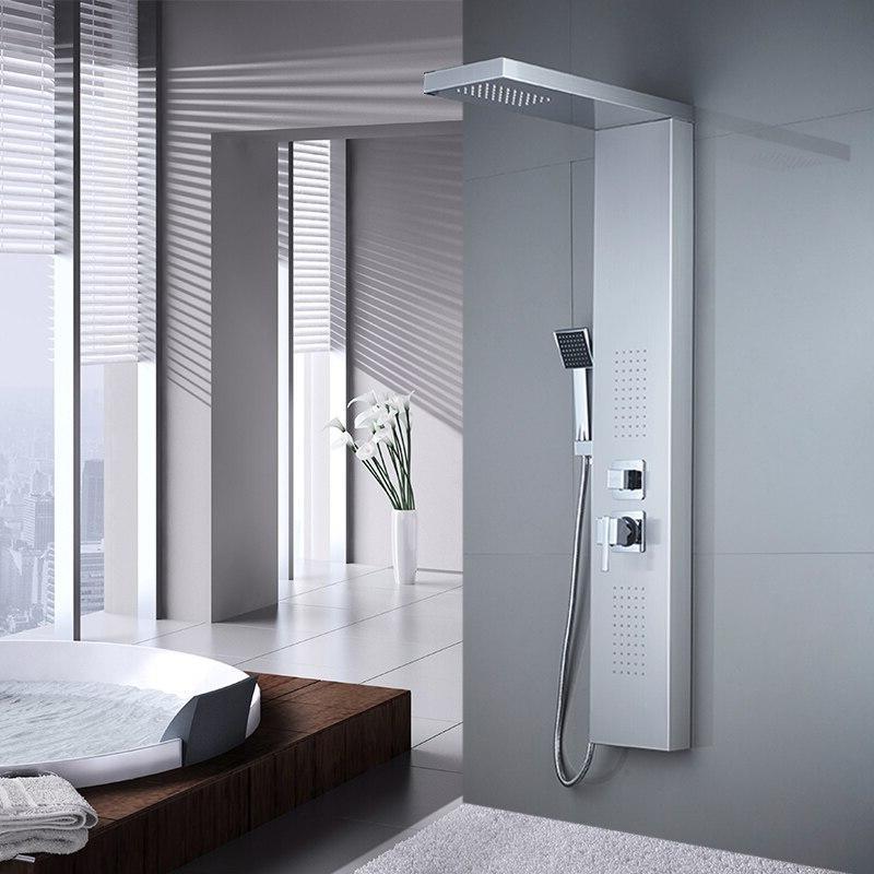 ROVATE Bathroom 304 Steel <font><b>Shower</b></font> <font><b>Shower</b></font> Faucets